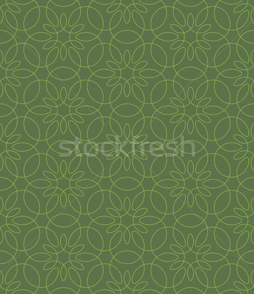 Foto stock: Neutral · sin · costura · lineal · florecer · patrón · geométrico