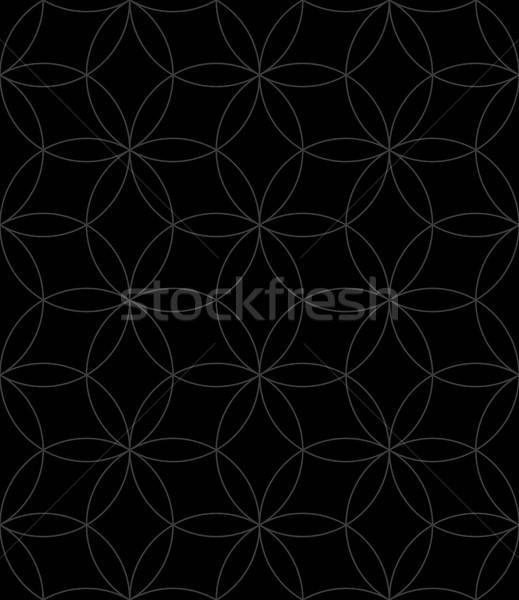 Neutral Seamless Linear Pattern. Geometric Circles Vector Backgr Stock photo © almagami