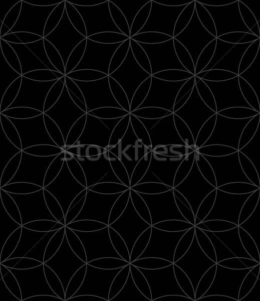 Neutro sem costura linear padrão geométrico círculos Foto stock © almagami