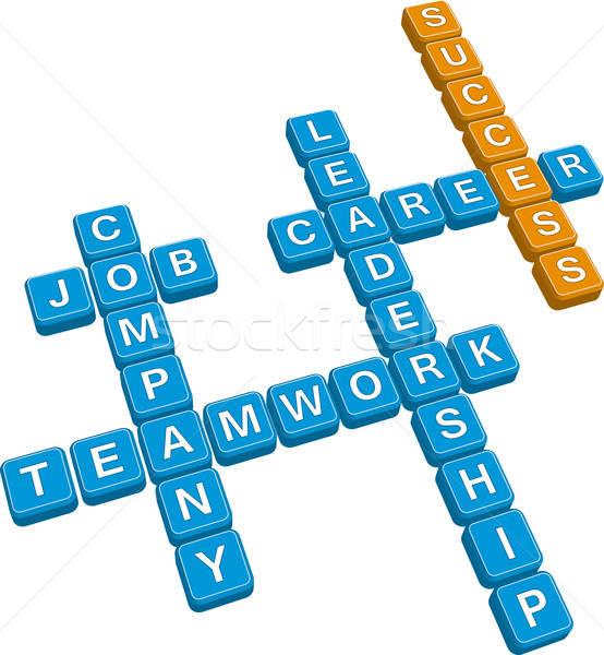 business crossword Stock photo © almagami