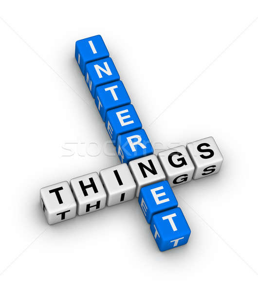 Internet Of Things crossword puzzle Stock photo © almagami