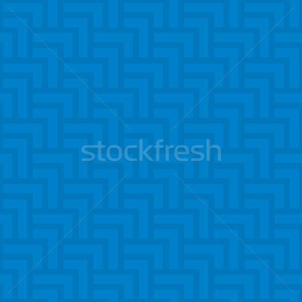 Semleges mértani végtelenített kék minta végtelen minta Stock fotó © almagami