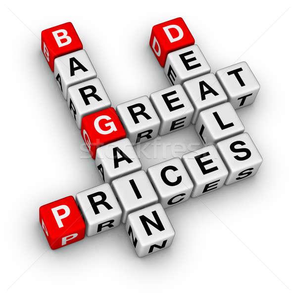 Nagyszerű akciók alkalmi vétel árak üzlet piros Stock fotó © almagami