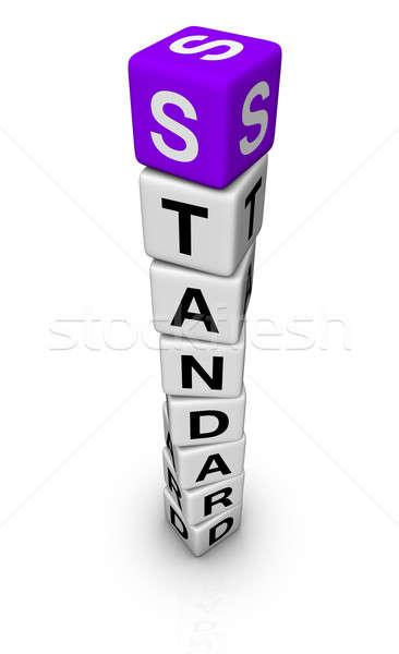 Estándar símbolo negocios signo dados apoyo Foto stock © almagami