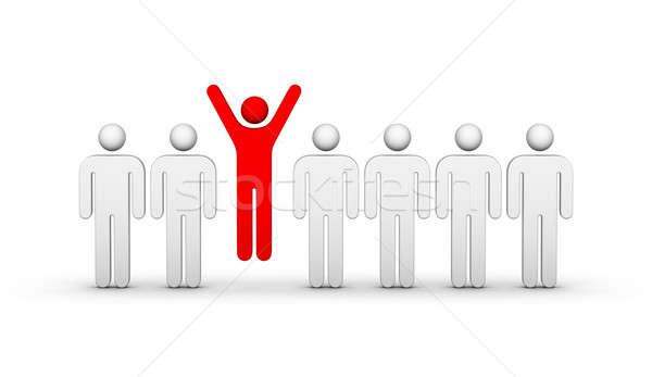 Um multidão vitória diferente negócio homem Foto stock © almagami