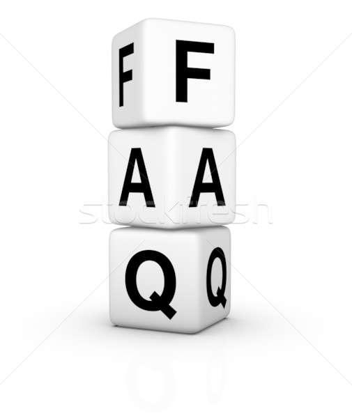 Freqüentemente perguntas símbolo isolado branco educação Foto stock © almagami