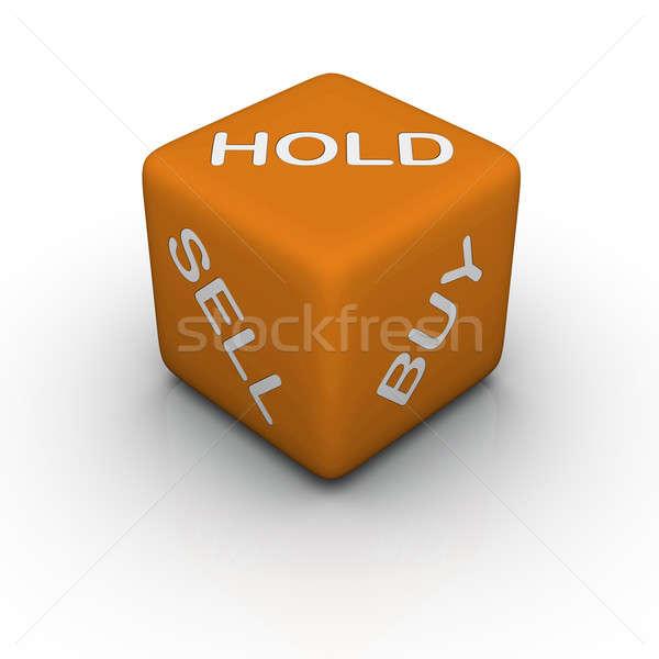 Kopen verkopen houden 3D kruiswoordraadsel oranje Stockfoto © almagami