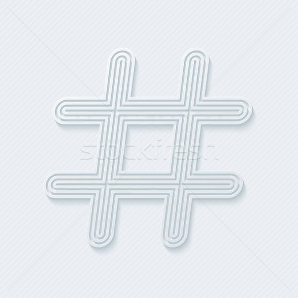 Hash tag outline symbol. Stock photo © almagami