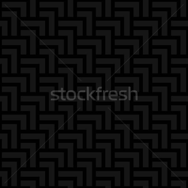 Neutral geometric seamless black pattern Stock photo © almagami