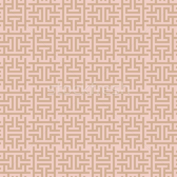 Beige Squares Modern Seamless Pattern. Stock photo © almagami