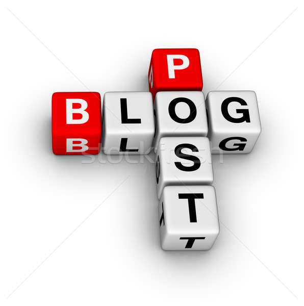 ブログ ポスト デザイン ニュース ウェブ 通信 ストックフォト © almagami