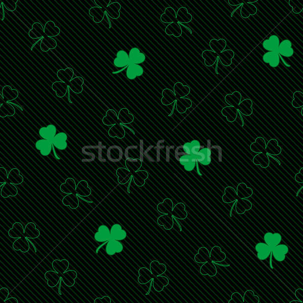 St. Patrick's Day seamless pattern. Stock photo © almagami