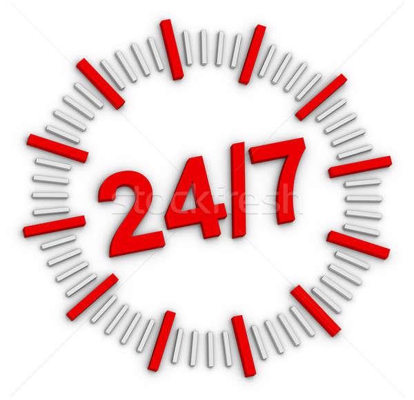 Apertura signo 24 negocios comercialización bienvenida Foto stock © almagami