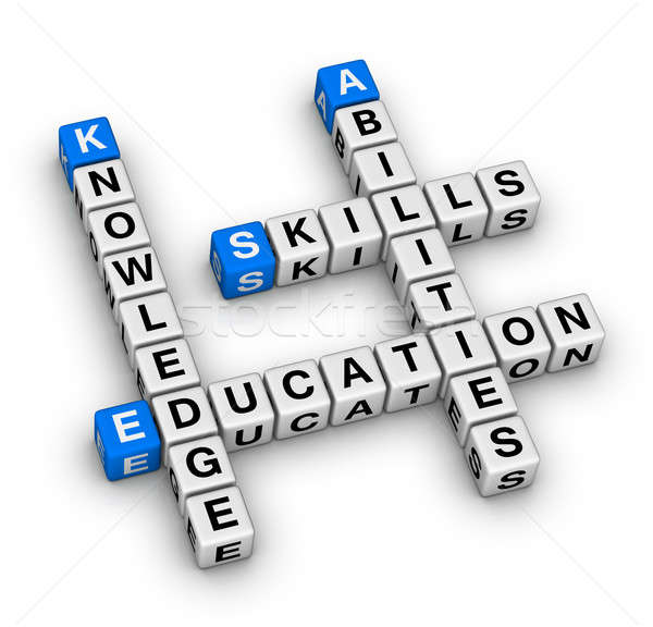 Skills, Knowledge, Abilities, Education Stock photo © almagami
