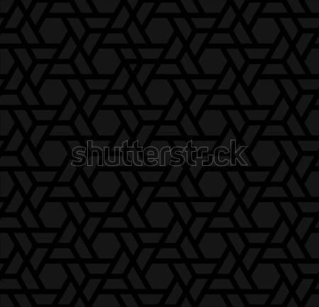 Black Neutral Seamless Pattern for Modern Design in Flat Style. Stock photo © almagami