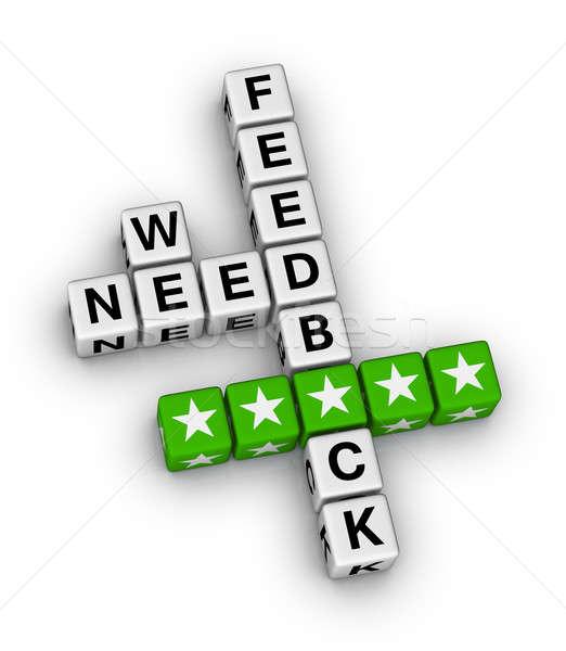 Stock photo: we want feedback