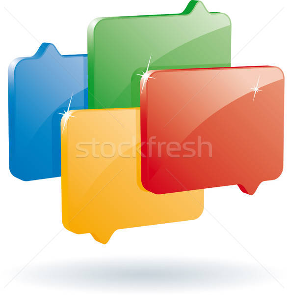 Blog symbole chat vecteur format design Photo stock © almagami