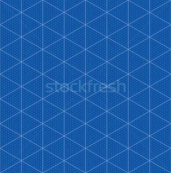 Isometric graph paper for 3D design Stock photo © almagami
