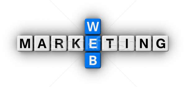 Zdjęcia stock: Internetowych · obrotu · krzyżówka · puzzle · podpisania · działalności