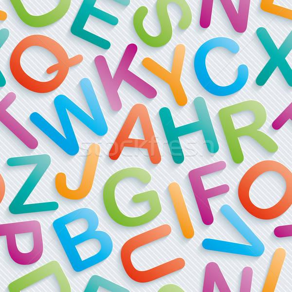 Colorful alphabet wallpaper. Stock photo © almagami
