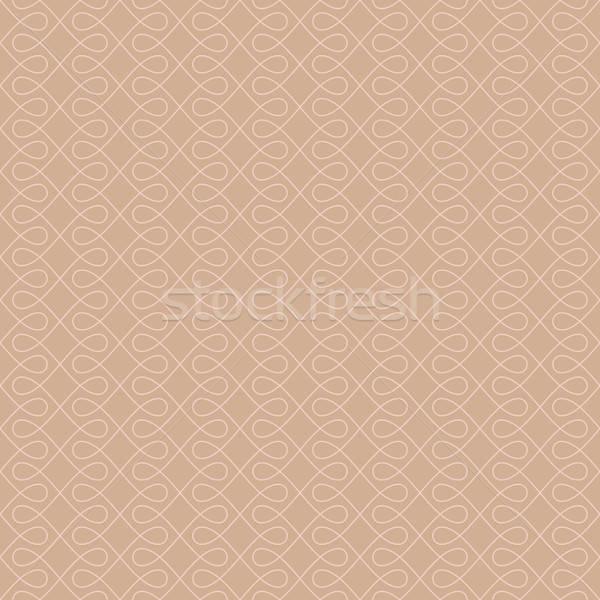Neutro sem costura linear florescer padrão geométrico Foto stock © almagami