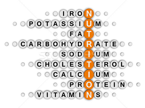 nutrition facts crossword Stock photo © almagami