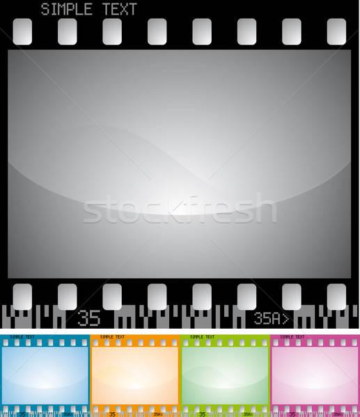 Vetor photo frame filme projeto fundo quadro Foto stock © almagami
