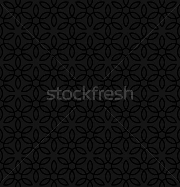 Floral ornament. Black Neutral Seamless Pattern for Modern Desig Stock photo © almagami