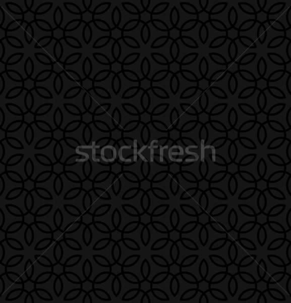 Kwiatowy ozdoba czarny neutralny nowoczesne Zdjęcia stock © almagami