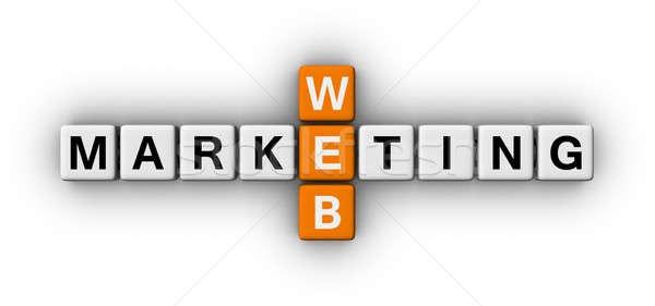ウェブ マーケティング クロスワード パズル にログイン ビジネス ストックフォト © almagami
