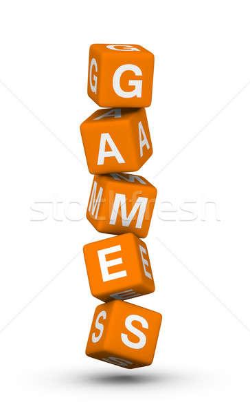 Gry podpisania krzyżówka Internetu pomarańczowy edukacji Zdjęcia stock © almagami