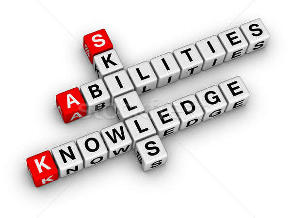 Skills, Knowledge, Abilities Stock photo © almagami