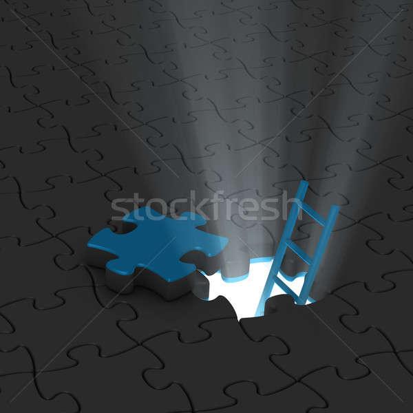 Merdiven ışık soyut kapı arka plan Stok fotoğraf © almagami