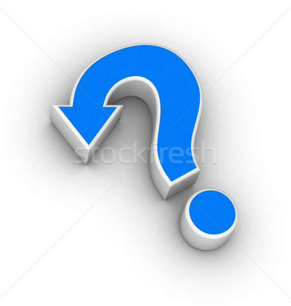 question mark with arrow Stock photo © almagami
