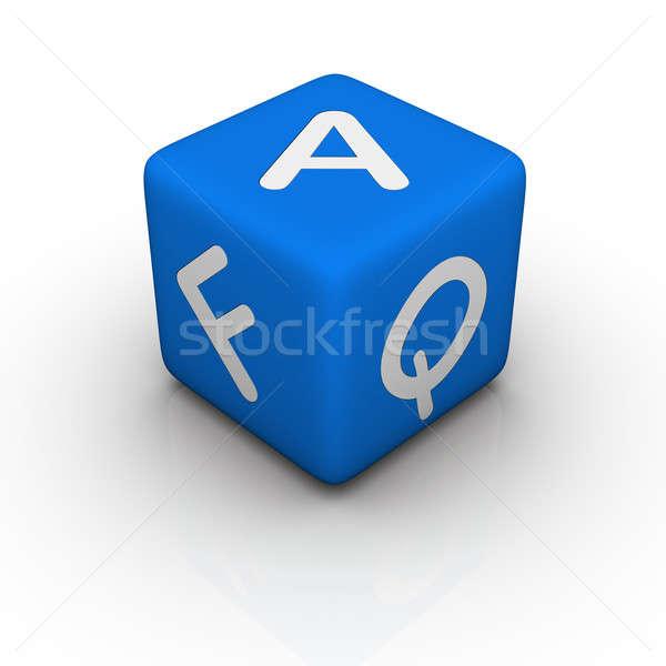 よくある質問 青 キューブ 単語 デザイン ボックス ストックフォト © almagami
