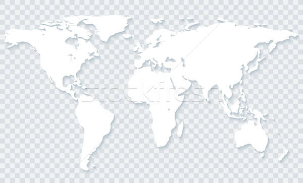 World map on transparent background Stock photo © almagami
