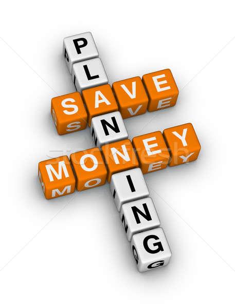 Tasarruf planlama bulmaca bilmece iş para Stok fotoğraf © almagami