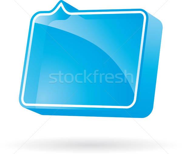 Bolha balão de fala discurso ícone vetor formato Foto stock © almagami