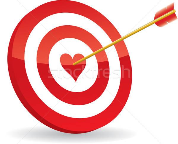 Cél szeretet nyíl absztrakt felirat siker Stock fotó © almagami