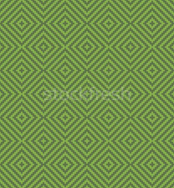 Növényzet négyzetek pixel művészet végtelen minta minta Stock fotó © almagami