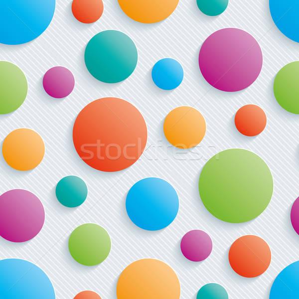 Stok fotoğraf: Renkli · circles · 3D · vektör · eps10
