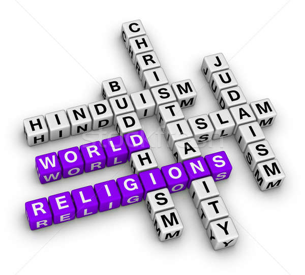 Wereld christendom islam jodendom boeddhisme hindoeïsme Stockfoto © almagami