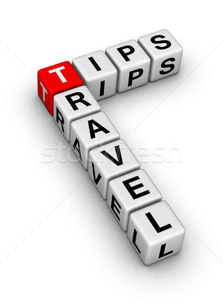 Voyage conseils rouge dés blanche vacances Photo stock © almagami