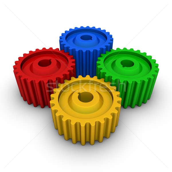 colorful gears Stock photo © almagami