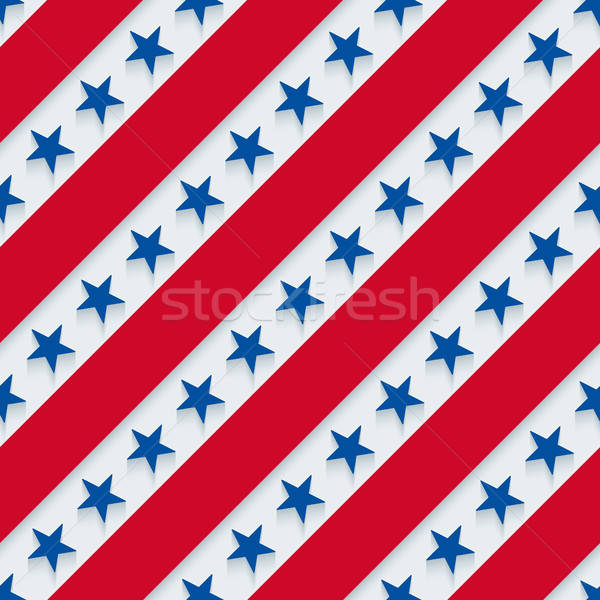 Stars and stripes american patriotic pattern. Stock photo © almagami