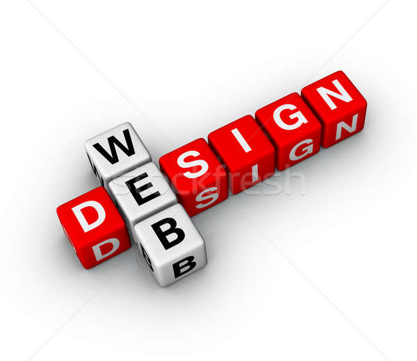 Web design ordinateur design art web puzzle Photo stock © almagami
