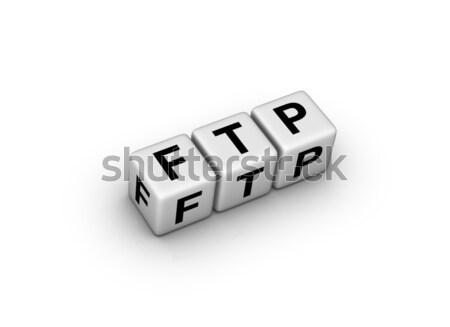 Ftp file trasferire protocollo computer server Foto d'archivio © almagami