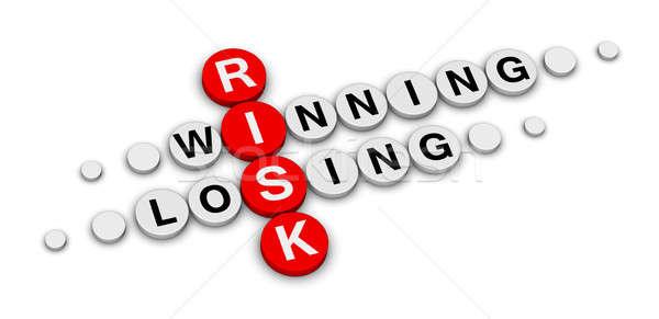 Ryzyko wygrać stracić krzyżówka działalności podpisania Zdjęcia stock © almagami