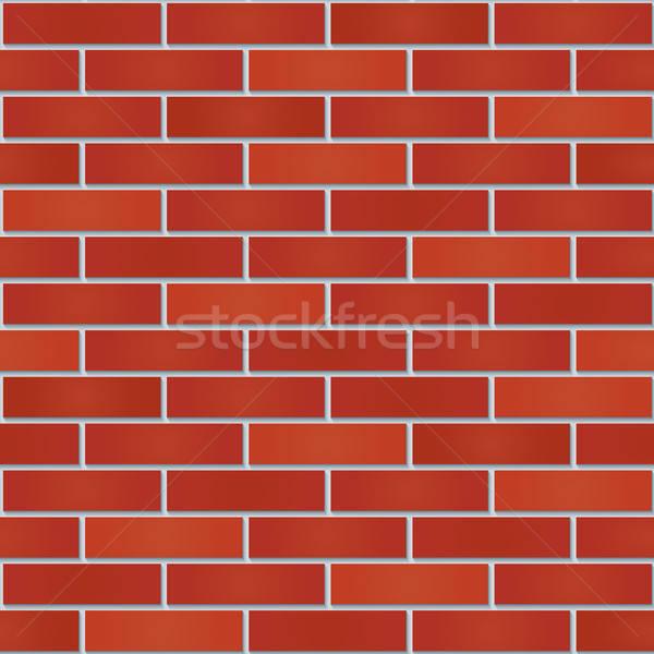 Bricks wall seamless background. Stock photo © almagami