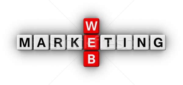 Сток-фото: веб · маркетинга · кроссворд · головоломки · знак · бизнеса